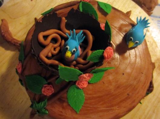 Vogel Torte Nest 4